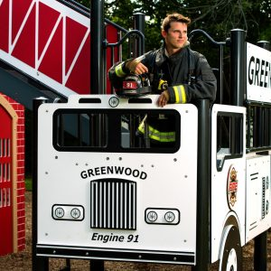 Custom Fire Truck Themed Playground gallery thumbnail